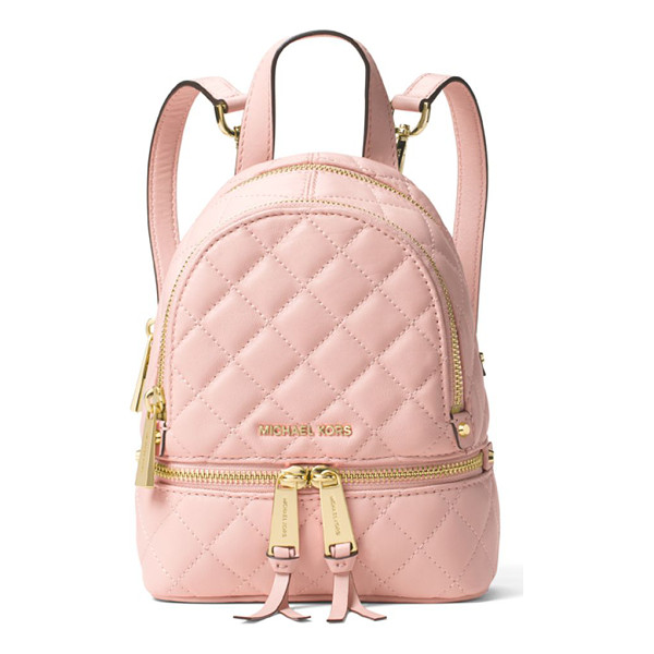 MICHAEL MICHAEL KORS Quilted leather backpack - On-trend mini backpack, with chic glossy hardwareTop...