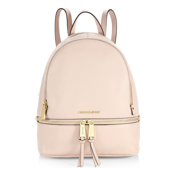 MICHAEL MICHAEL KORS rhea zip mini backpack - The classic backpack is redefined in texture-rich leather,...