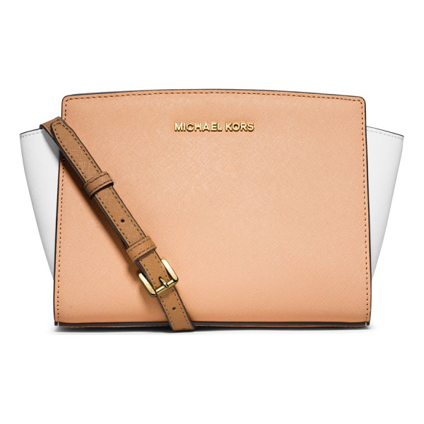 MICHAEL MICHAEL KORS Selma medium messenger bag - This signature structured design with winged sides and...