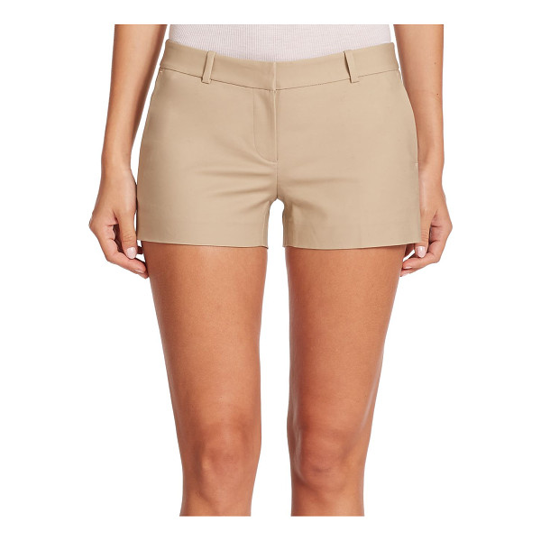 MICHAEL MICHAEL KORS Stretch-cotton mini shorts - Tailored from stretch cotton with an abbreviated hem,...