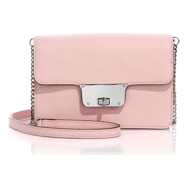 MILLY Astor mini leather crossbody bag - A sleek and stylish design crafted of rich pebbled leather...