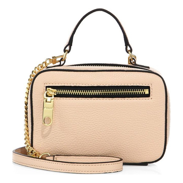 MILLY astor mini leather satchel - Mini boxy shape cast in polished pebbled leather. Top