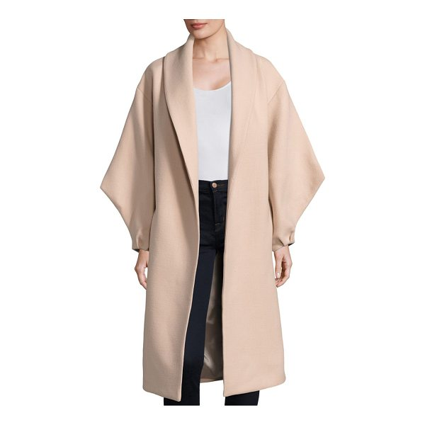 MILLY doubleface viola coat - Wool-blend coat with tie detail at back. Shawl collar. Long...