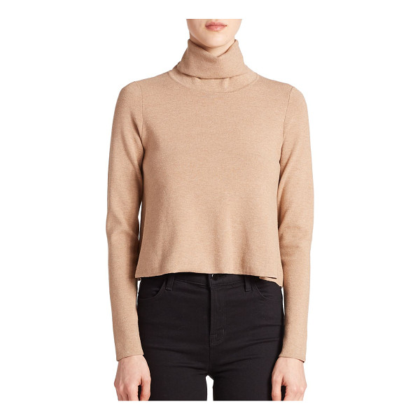 MILLY Turtleneck sweater - A cropped design updates this classic turtleneck sweater,...