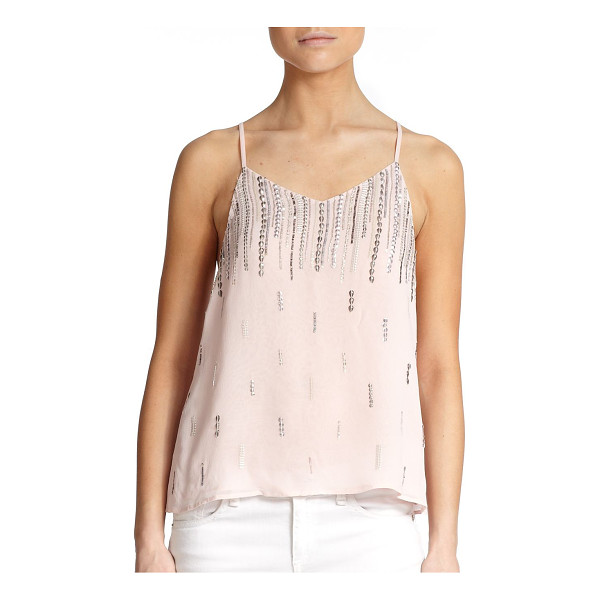 MLV Sequined shell - Rows of sequins add effortless glamour to this airy...
