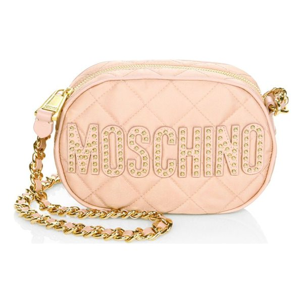 MOSCHINO quilted leather crossbody bag - .Leather crossbody bag with gold hardware accents.