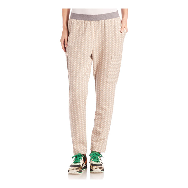 M.PATMOS Luxe chevron track pants - From the Woolmark collectionChevron track pant knit in...