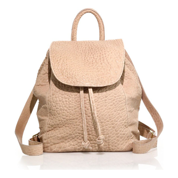 MR. Parker bubble leather backpack - A classic hands-free staple rendered in soft bubble leather...