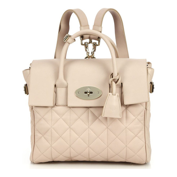 MULBERRY Cara delevingne convertible quilted leather satchel - EXCLUSIVELY AT SAKS IN OATMEAL. Influenced by Cara...
