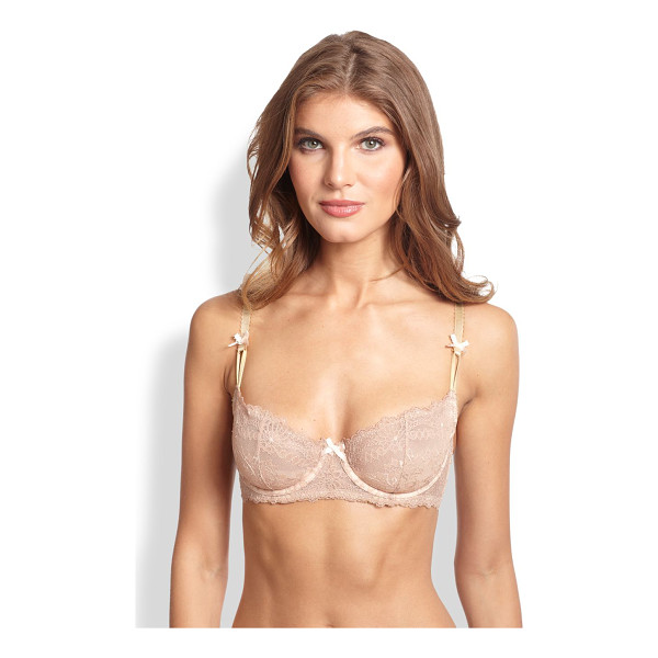 MYLA LONDON Nicole balconette bra - Scalloped straps are accented with bows for a flirty yet...