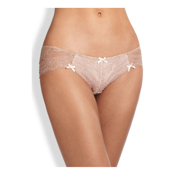 MYLA LONDON Nicole lace hipster - This sheer lace style is accented with delicate bows for a...