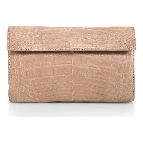NANCY GONZALEZ crocodile clutch - A glossy finish on this exotic crocodile clutch exudes...