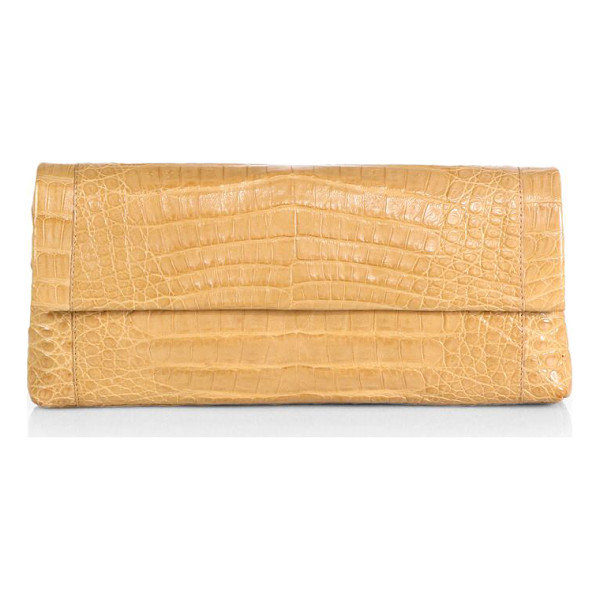 NANCY GONZALEZ Crocodile gotham clutch - Luxe crocodile in an ultra-sleek silhouette-the perfect...