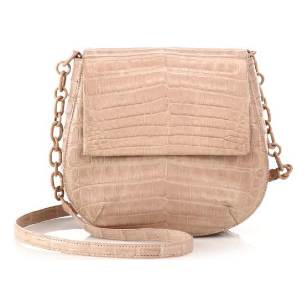 NANCY GONZALEZ Round crocodile crossbody bag - EXCLUSIVELY AT SAKS IN YELLOW. Crafted of luxe crocodile,...