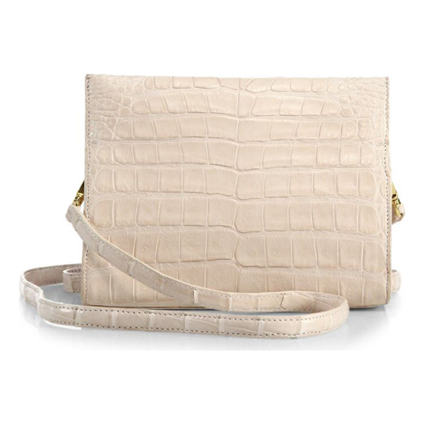 NANCY GONZALEZ small crocodile clutch - Boxy convertible clutch crafted from exotic crocodile.