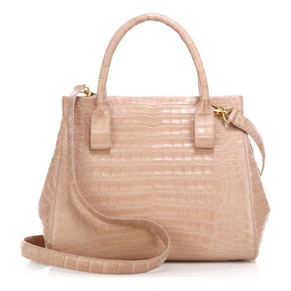 NANCY GONZALEZ small crocodile satchel - Crafted of luxe crocodile in a petite silhouette, this