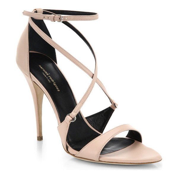 NARCISO RODRIGUEZ Ava italian leather sandals - Strappy heels in luxe leather offer a sophisticated option...