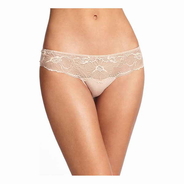 NATORI FOUNDATIONS Bliss bloom thong - Crafted in a lightweight fabric, this super soft thong is...