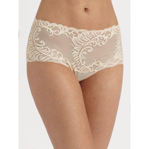 NATORI FOUNDATIONS feathers brief - Sits higher on hips and features a pretty feather mesh lace...