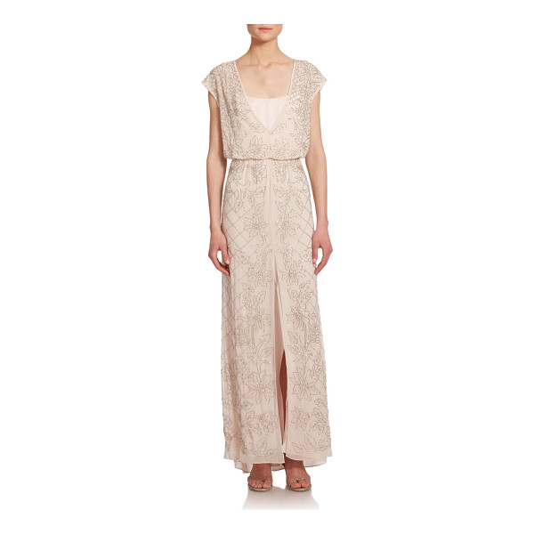 NEEDLE & THREAD Aura maxi dress - Delicate, shimmering seed beads stretch to trace a design...
