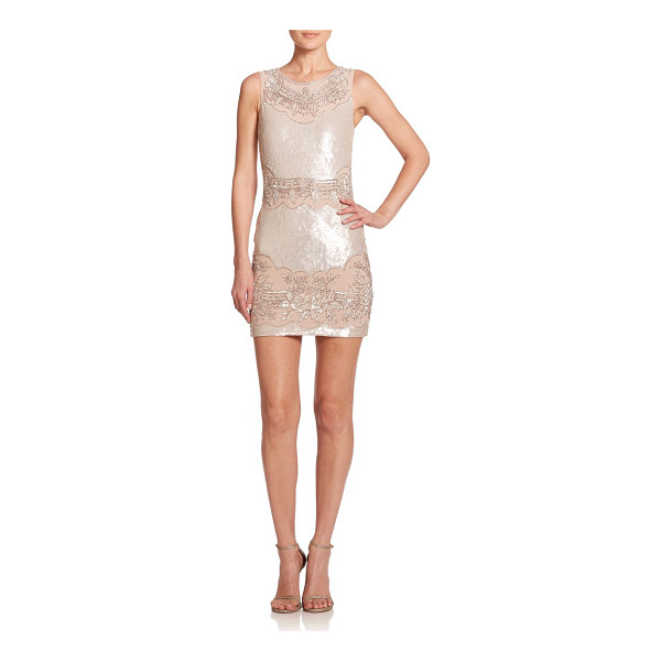 NEEDLE & THREAD Beaded sequin sheath dress - A sequined silhouette is perfectly complemented by panels...