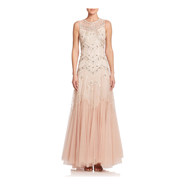 NEEDLE & THREAD Embellished tulle sleeveless gown - A nod to vintage glamour, this sleeveless tulle gown is...