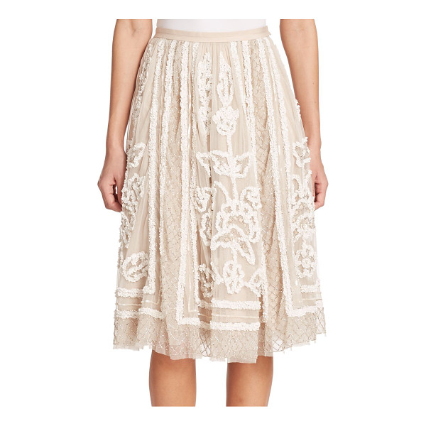 NEEDLE & THREAD Ribbon-detail full skirt - This full, sweeping tulle skirt is adorned by endless...