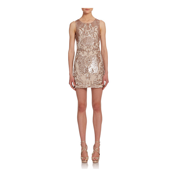 NEEDLE & THREAD Sequined mini dress - Baroque-inspired motifs impart uptown polish to this flirty...