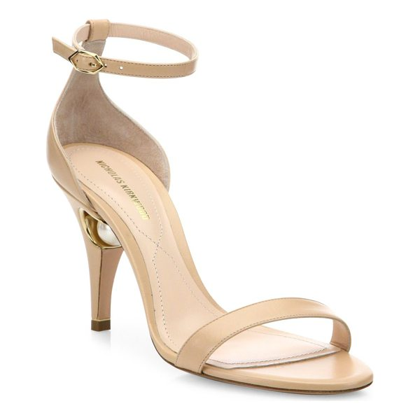 NICHOLAS KIRKWOOD penelope pearly leather ankle-strap sandals - EXCLUSIVELY AT SAKS FIFTH AVENUE. Sultry leather...