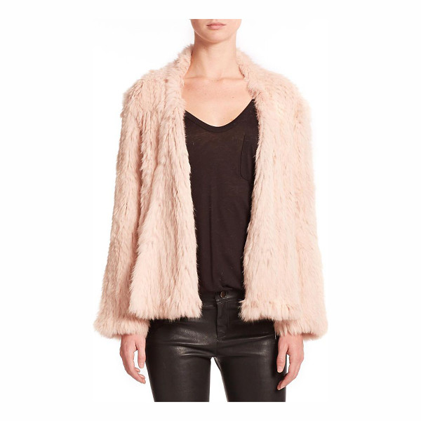 NICHOLAS Rabbit fur jacket - Richly draped in rabbit fur, this sumptuous jacket exudes...