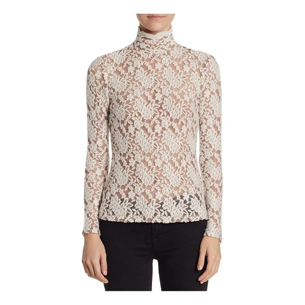 NIGHTCAP floral lace sweater - A beautiful floral lace sweater in a luxe wool blend. Stand...