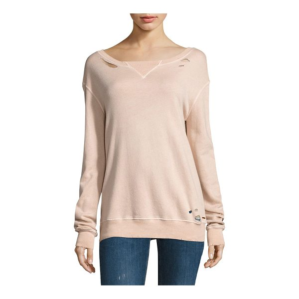 N:PHILANTHROPY joni sweatshirt - Hand cut holes complete this relaxed essential. Ribbed...