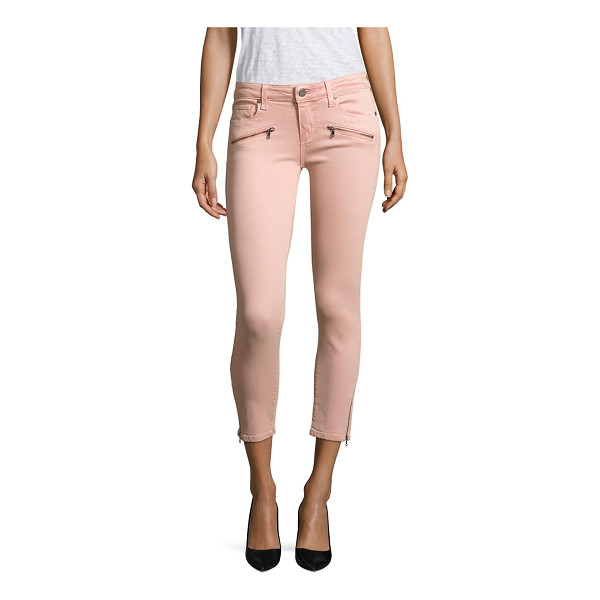 PAIGE jane zip cropped skinny jeans - Zip pockets and hem add edge to cropped skinny jeans. Belt...