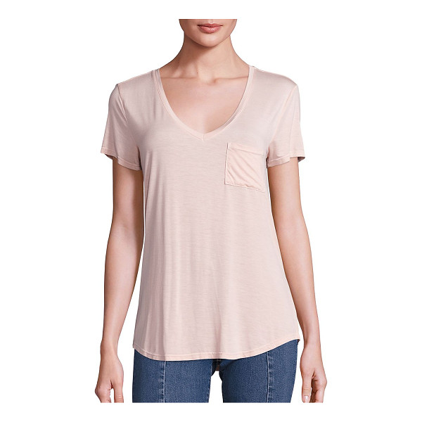 PAIGE lynnea v-neck t-shirt - Classic casual tee with a hint of stretch.V-neck. Short...