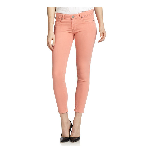 PAIGE Verdugo cropped skinny ankle jeans - Cast in a cheery pastel hue, this skinny-fit silhouette is...