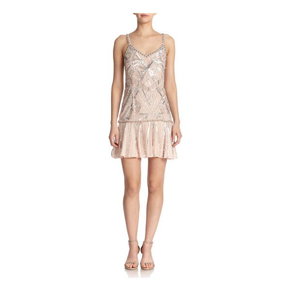 PARKER Beaded silk drop-waist dress - Inspired by the roaring '20s, this intricately beaded dress...