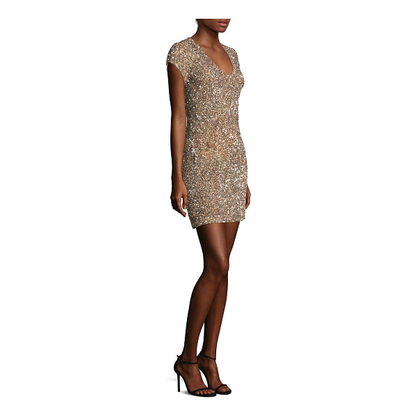 PARKER BLACK serena sheath dress - Alluring sheath dress featuring allover glittery sequins....