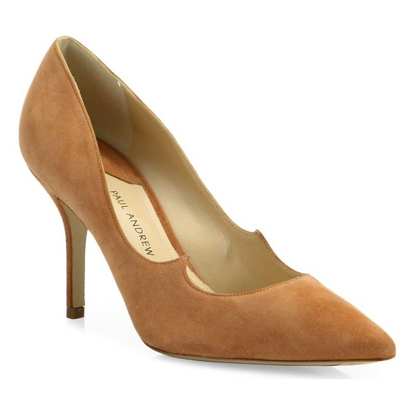 PAUL ANDREW kimura suede point toe pumps - Luxe suede point-toe pump with peaked wing detail....