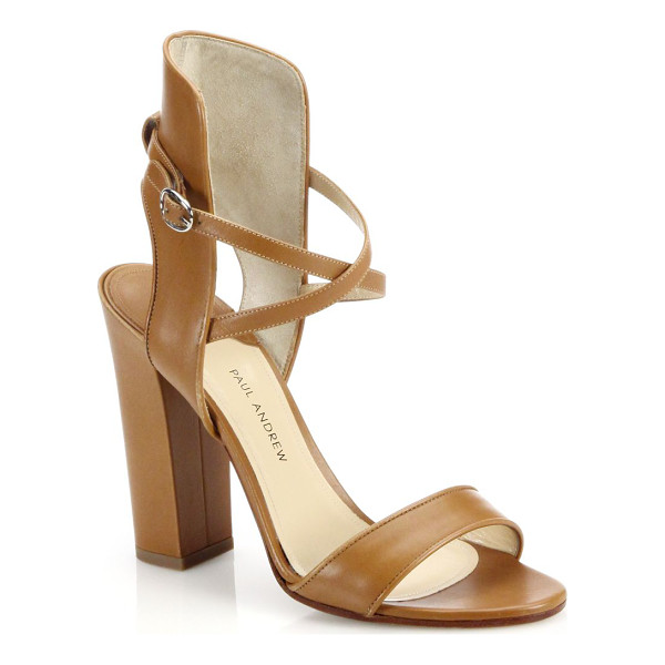 PAUL ANDREW Lexington leather sandals - Leather sandals are cast in a city-chic silhouette that...