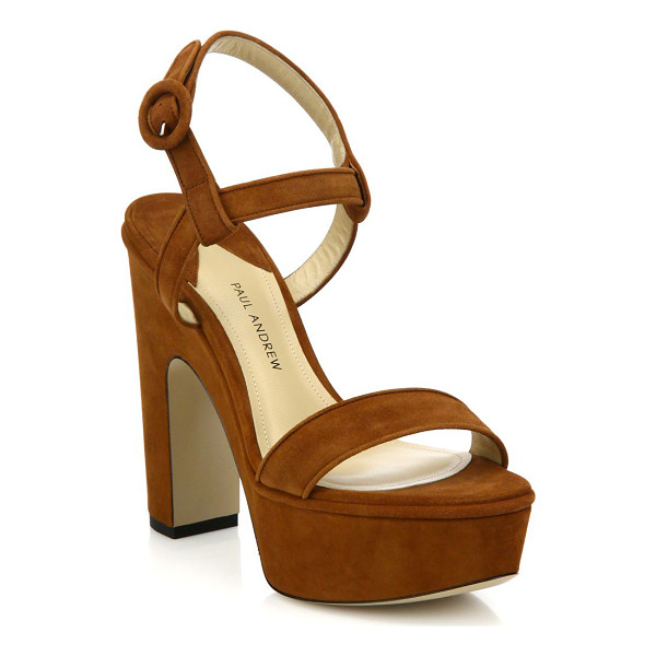 PAUL ANDREW Stanton suede platform sandals - Trend-right platform sandals cast in supple...