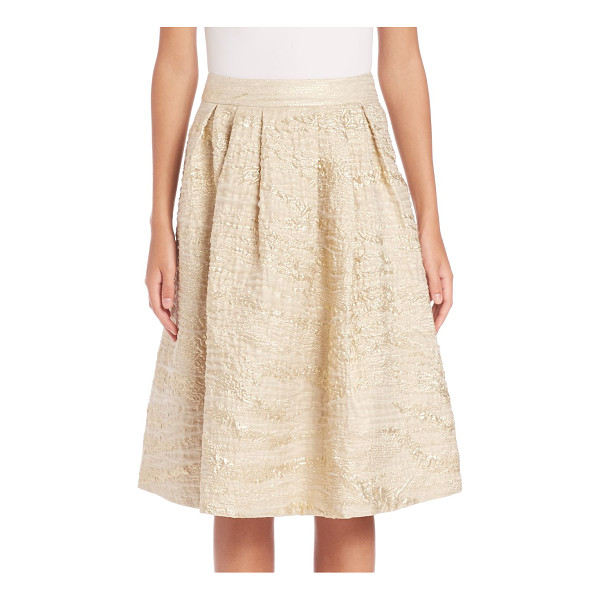 PAUW pleated metallic jacquard skirt - Pleated skirt made luminous in metallic jacquard. Banded...