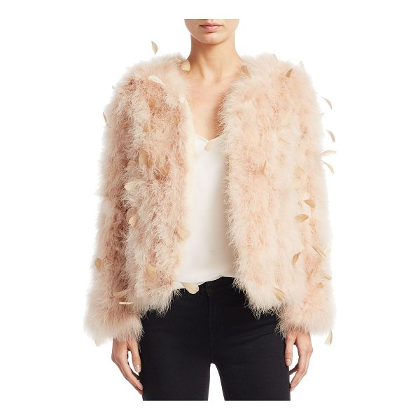 PELLO BELLO jacquard feather jacket - EXCLUSIVELY AT SAKS FIFTH AVENUE. Plush feather jacket for...