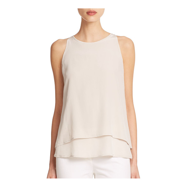 PESERICO Fly away draped silk tank top - This gorgeously draped, fluttering silk top is sure to pair...