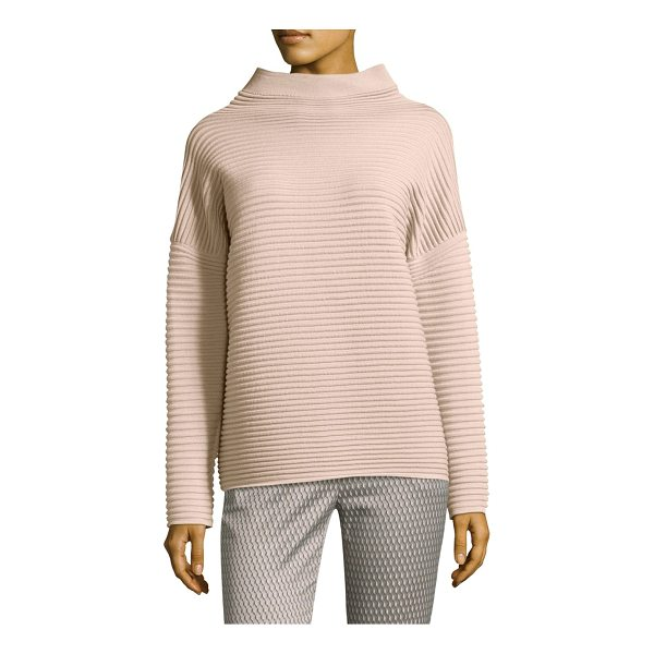 PESERICO horizontal wool sweater - Wool sweater with a wide rib texture. High neck. Long...