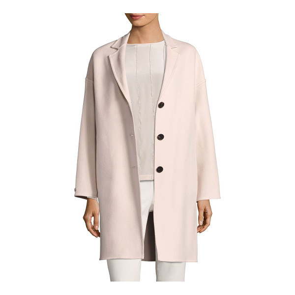 PESERICO loro piana coat - Wool-blend coat with a dropped shoulder style. Notch...