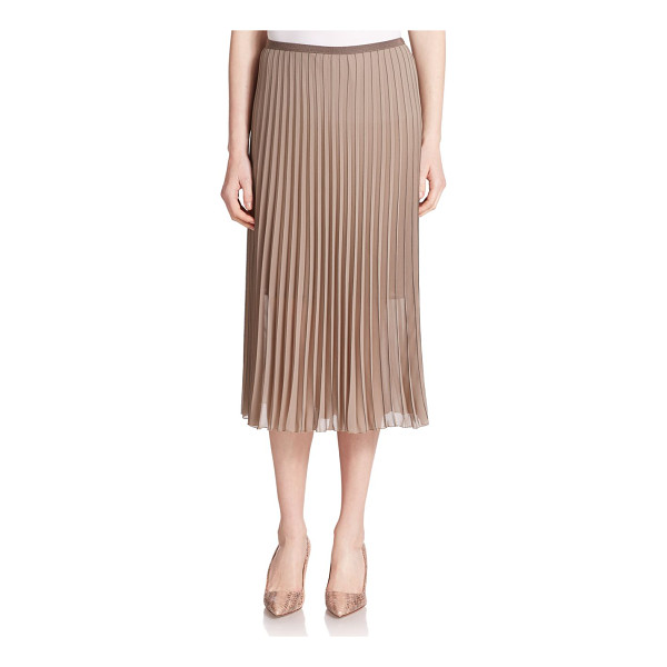 PESERICO Pleated skirt - This airy, semi-sheer pleated skirt is versatile enough to...