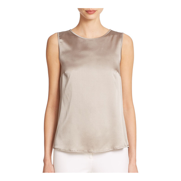 PESERICO Satin tank - Lustrous soft satin ensures the timeless styling appeal of...