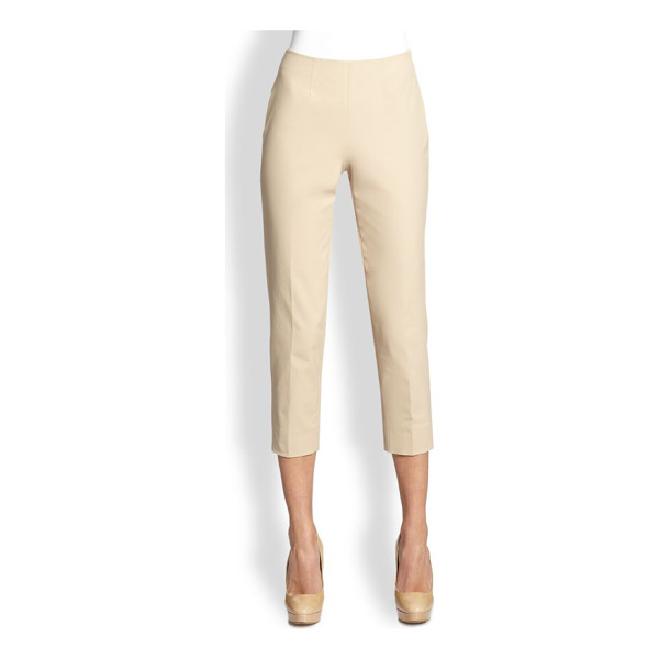PIAZZA SEMPIONE Audry cotton gabardine pants - A wardrobe staple in soft cotton gabardine, expertly...