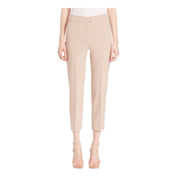 PIAZZA SEMPIONE coin pocket brigitte capri pants - Sleek cropped style in luxe wool-blend finish. Banded...