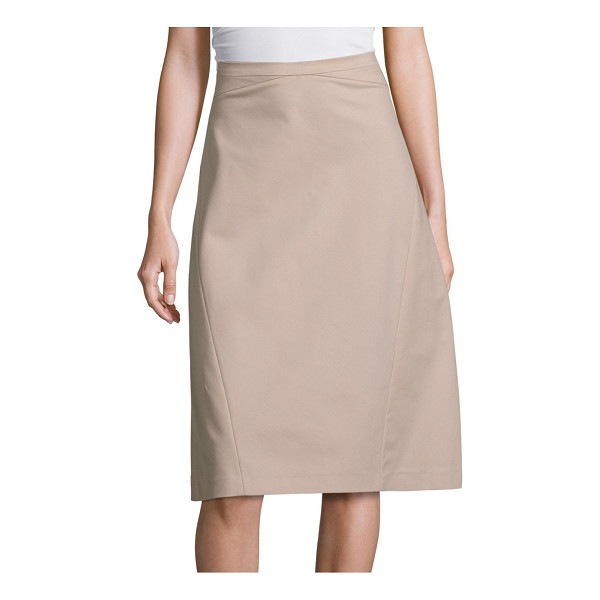 PIAZZA SEMPIONE cotton a-line skirt - Solid cotton skirt in a classic A-line silhouette....